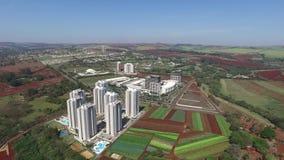 Widok z lotu ptaka architeture w Ribeirao Preto, Sao Paulo, Brazylia - Sierpień 2016 zbiory wideo