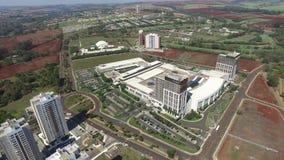 Widok z lotu ptaka architeture w Ribeirao Preto, Sao Paulo, Brazylia - Sierpień 2016 zbiory