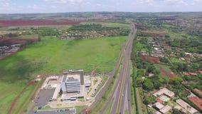 Widok z lotu ptaka architeture w Ribeirao Preto, Sao Paulo, Brazylia - Sierpień 2016 zdjęcie wideo