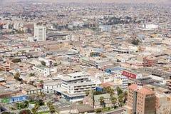 Widok z lotu ptaka Arica miasto w Arica, Chile Obrazy Stock