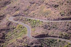 Widok Z Lotu Ptaka Asfaltowa droga Zdjęcie Stock