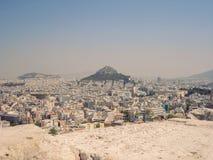 Widok z lotu ptaka Ateny Obrazy Stock