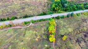 Widok z lotu ptaka autostrada na wsi zbiory