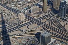 Widok z lotu ptaka autostrady złącze Obraz Stock