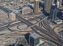 Widok z lotu ptaka autostrady złącze Zdjęcia Royalty Free