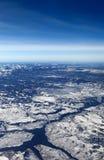 Widok z lotu ptaka Błękitna mesy tama rezerwuar i, Kolorado zdjęcia royalty free
