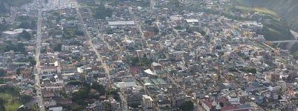 Widok z lotu ptaka Banos De Agua Santa, Ekwador Fotografia Royalty Free