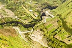 Widok Z Lotu Ptaka Banos De Agua Santa Ekwador Zdjęcie Royalty Free