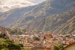 Widok Z Lotu Ptaka Banos De Agua Santa, Tungurahua prowincja Fotografia Stock