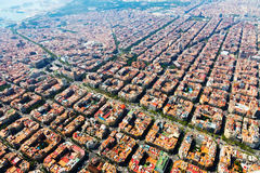 Widok z lotu ptaka Barcelona, Catalonia fotografia stock