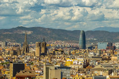 Widok z lotu ptaka Barcelona miasto Hiszpania Obrazy Stock