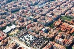 Widok z lotu ptaka Barcelona od helikopteru Zdjęcia Royalty Free