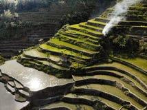Widok Z Lotu Ptaka - Batad Rice tarasy - Filipiny fotografia royalty free