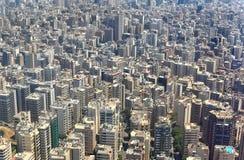 Widok z lotu ptaka Bejrut, Liban Zdjęcia Royalty Free