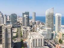 Widok Z Lotu Ptaka Bejrut Liban, miasto Bejrut, Bejrut pejzaż miejski obrazy royalty free