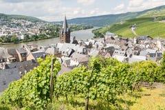 Widok z lotu ptaka bernKastel-Kues w Niemcy obrazy stock