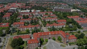 Widok z lotu ptaka Bispebjerg szpital zdjęcie wideo