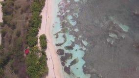 Widok z lotu ptaka Bois Jolan pla?a, laguna, Grande, Guadeloupe, Karaiby zdjęcie wideo