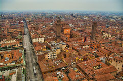 Widok z lotu ptaka Bologna Fotografia Royalty Free