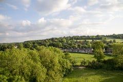 Widok z lotu ptaka Buckinghamshire krajobraz fotografia stock