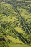 Widok z lotu ptaka Buckinghamshire krajobraz fotografia royalty free