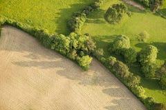 Widok z lotu ptaka Buckinghamshire krajobraz obraz stock