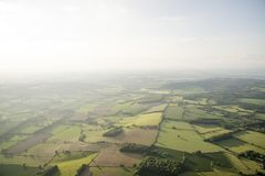 Widok z lotu ptaka Buckinghamshire krajobraz obraz royalty free