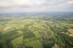 Widok z lotu ptaka Buckinghamshire krajobraz zdjęcia royalty free