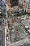 Widok z lotu ptaka budowa w w centrum Austin, Teksas obrazy stock
