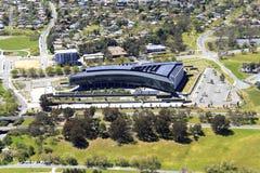 Widok z lotu ptaka Buduje Canberra Ben Chifley fotografia royalty free