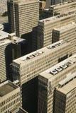 Widok z lotu ptaka budynki obraz stock
