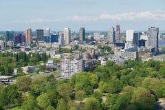 Widok z lotu ptaka budynki Rotterdam, holandie Zdjęcia Royalty Free