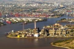 Widok Z Lotu Ptaka Buenos Aires od okno samolotu obraz royalty free