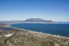 Widok z lotu ptaka Capetown stołu góra Południowa Afryka zdjęcia stock