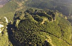 Widok z lotu ptaka Ceahlau Toaca halny szczyt Obrazy Stock