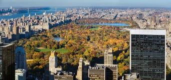 Widok z lotu ptaka central park w jesieni Manhattan, nowy jork miasto Zdjęcie Royalty Free