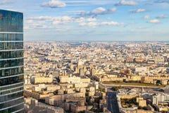 Widok z lotu ptaka centrum i południowi zachody Moskwa miasto obrazy stock