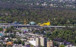 Widok z lotu ptaka chapultepec i muzeum w Mexico - miasto obrazy royalty free