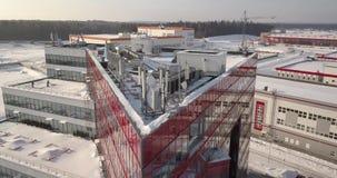 Widok z lotu ptaka Chiński teren przemysłowy w Białoruś zbiory