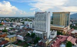 Widok z lotu ptaka Chiang Mai, Tajlandia Zdjęcie Stock