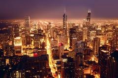 Widok z lotu ptaka Chicagowski śródmieście fotografia royalty free