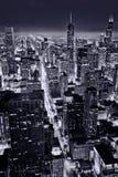 Widok z lotu ptaka Chicagowski śródmieście zdjęcie royalty free