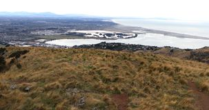 Widok z lotu ptaka Christchurch, Nowa Zelandia schronienie 4K zbiory