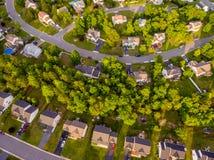 Widok Z Lotu Ptaka ciastko krajacza sąsiedztwo Obraz Stock