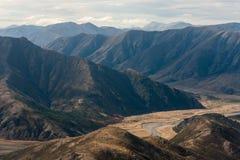 Widok z lotu ptaka Clarence rzeki dolina Fotografia Stock