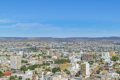 Widok Z Lotu Ptaka Comodoro Rivadavia miasto, Argentyna Obraz Royalty Free