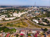 Widok z lotu ptaka Constanta, miasteczko w Rumunia zdjęcia royalty free