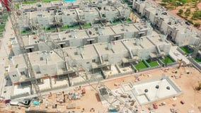 widok z lotu ptaka contruction teren z nowymi budynkami spain, costa blanca, Alicante, Torrevieja zdjęcie wideo