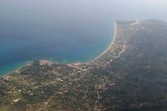 Widok z lotu ptaka Corfu wyspa Kerkyra w Greece zdjęcia stock