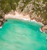 Widok z lotu ptaka Cornwall nadmorski Zdjęcie Stock